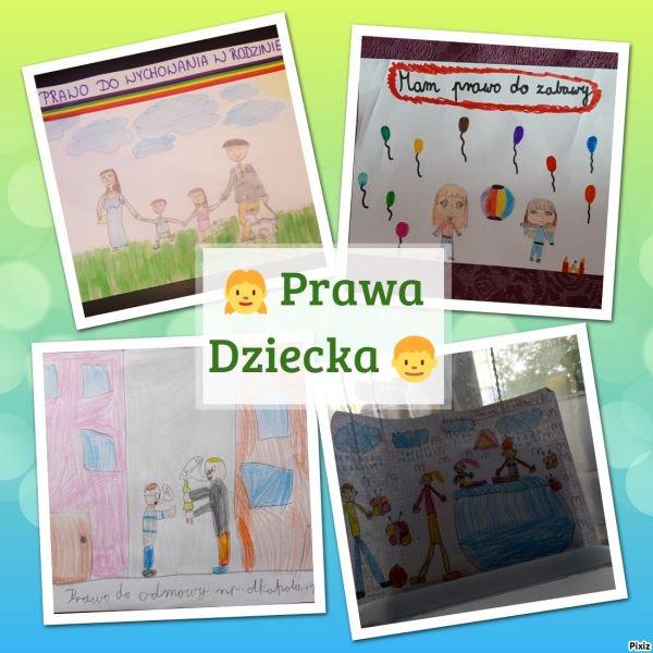 prace plastyczne uczniów dotyczące praw dziecka